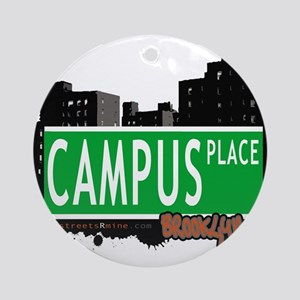 Campus place, BROOKLYN, NYC Ornament (Round)