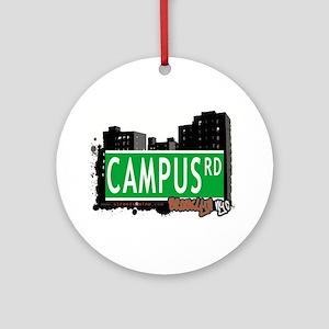Campus road, BROOKLYN, NYC Ornament (Round)
