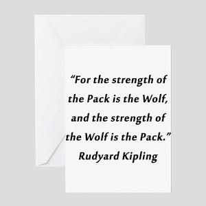 Kipling - Strength of Pack Greeting Card