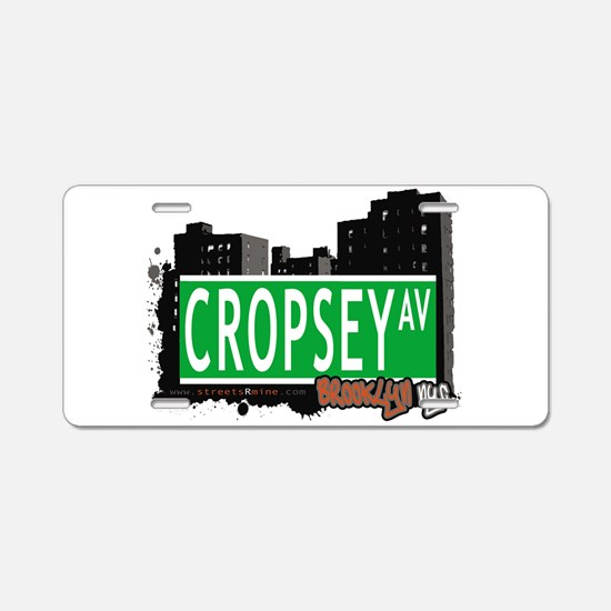 Cropsey avenue, BROOKLYN, NYC Aluminum License Pla