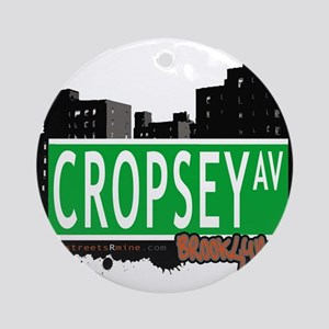 Cropsey avenue, BROOKLYN, NYC Ornament (Round)
