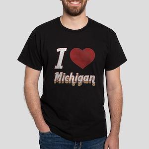 I Love Michigan (Vintage) Dark T-Shirt
