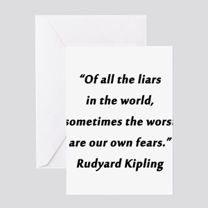 Kipling - Of All the Liars Greeting Card