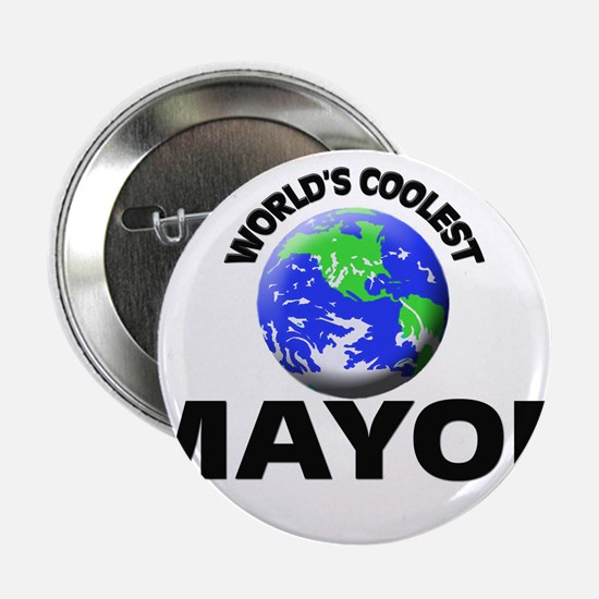 "World's Coolest Mayor 2.25"" Button"