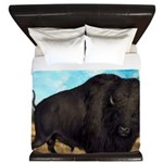 Prairie Bison King Duvet