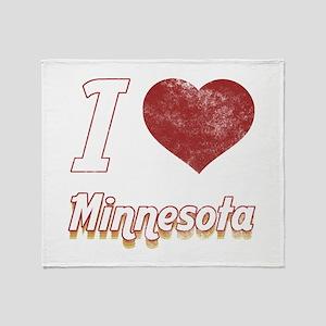 I Love Minnesota (Vintage) Throw Blanket