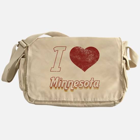 I Love Minnesota (Vintage) Messenger Bag