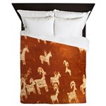 Atlatl Rock Petroglyphs Queen Duvet