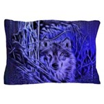 Night Warrior Wolf Pillow Case