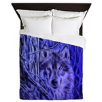 Night Warrior Wolf Queen Duvet