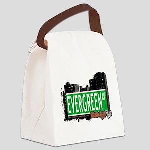 EVERGREEN AV, BROOKLYN, NYC Canvas Lunch Bag
