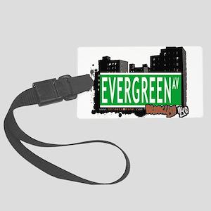 EVERGREEN AV, BROOKLYN, NYC Large Luggage Tag