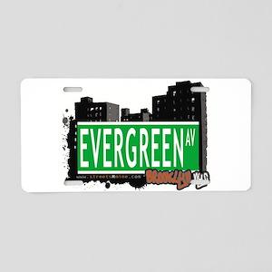 EVERGREEN AV, BROOKLYN, NYC Aluminum License Plate