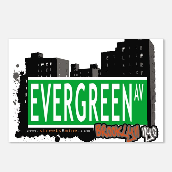 EVERGREEN AV, BROOKLYN, NYC Postcards (Package of