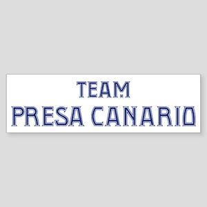 Team Presa Canario Bumper Sticker