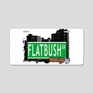 FLATBUSH AV, BROOKLYN, NYC Aluminum License Plate