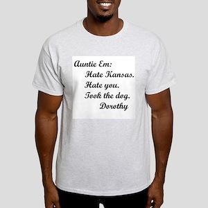 Wizard of Oz Auntie Em Ash Grey T-Shirt