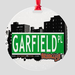 GARFIELD PL, BROOKLYN, NYC Round Ornament