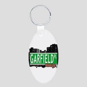GARFIELD PL, BROOKLYN, NYC Aluminum Oval Keychain