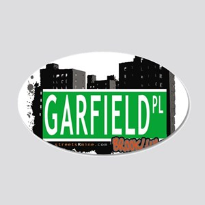 GARFIELD PL, BROOKLYN, NYC 20x12 Oval Wall Decal