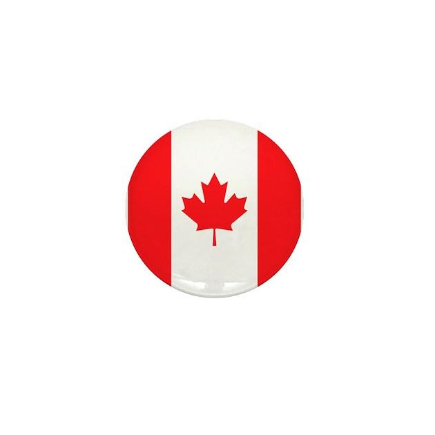 Canadian Flag Mini Button By Buttonedup