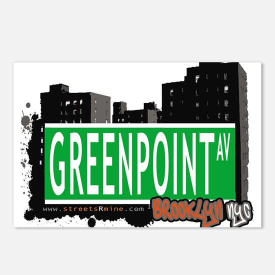GREENPOINT AV, BROOKLYN, NYC Postcards (Package of
