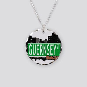 GUERNSEY ST, BROOKLYN, NYC Necklace Circle Charm
