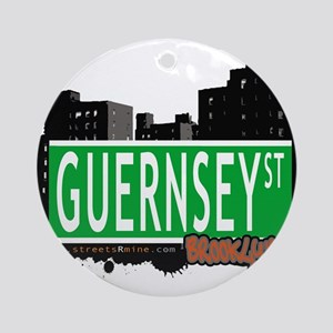 GUERNSEY ST, BROOKLYN, NYC Ornament (Round)