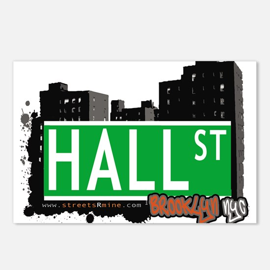 HALL ST, BROOKLYN, NYC Postcards (Package of 8)