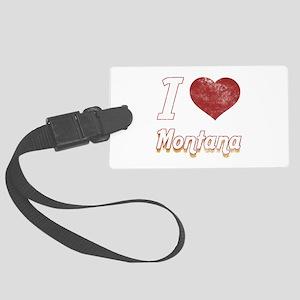 I Love Montana (Vintage) Large Luggage Tag