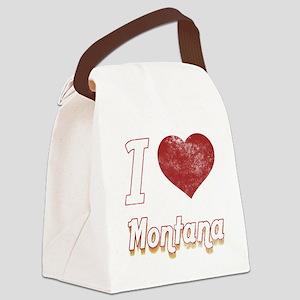 I Love Montana (Vintage) Canvas Lunch Bag