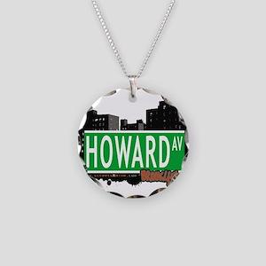 HOWARD AV, BROOKLYN, NYC Necklace Circle Charm