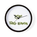 Leviner Family Historian Wall Clock