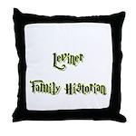 Leviner Family Historian Throw Pillow