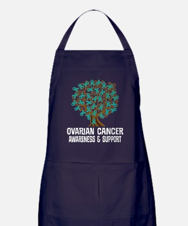Ovarian Cancer Teal Awareness Apron (dark)