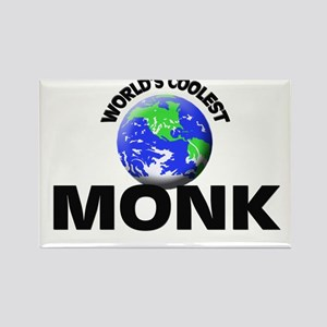 World's Coolest Monk Rectangle Magnet