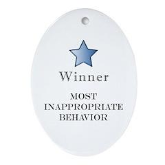 The Gotch'ya Award - Oval Ornament