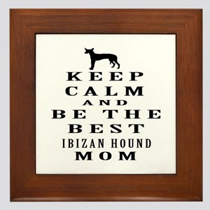 Keep Calm Ibizan Hound Designs Framed Tile
