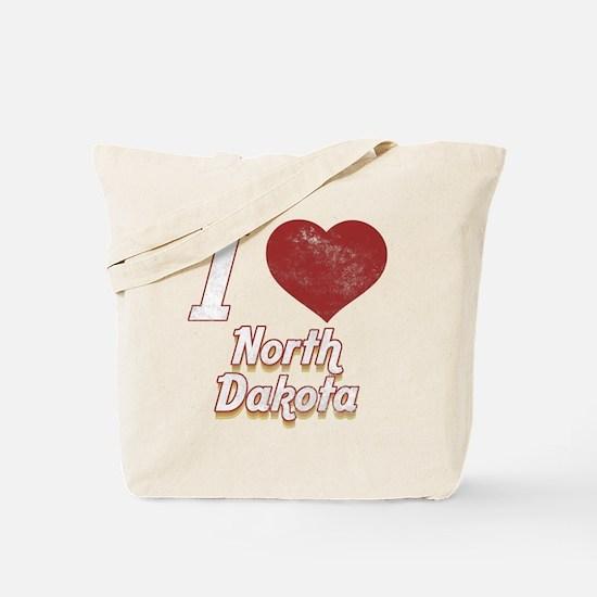 I Love North Dakota (Vintage) Tote Bag