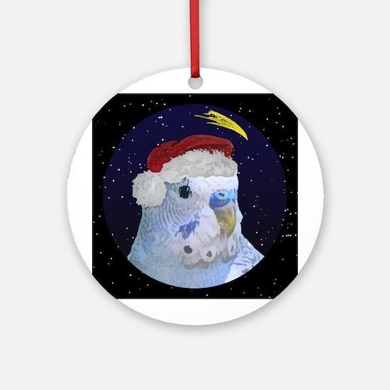 Christmas Night Blue Budgie Christmas Ornament