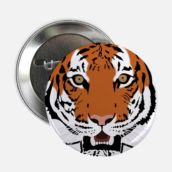 "Tiger Head 2.25"" Button"