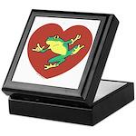 ASL Frog in Heart White Keepsake Box