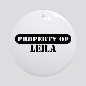 Property of Leila Ornament (Round)