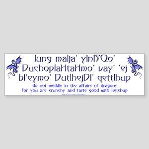 Affairs of Dragons (Klingon) Bumper Sticker