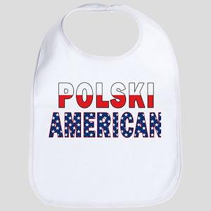 Polski American Flag Text Bib