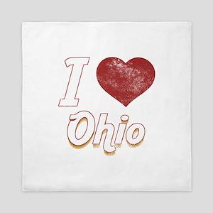 I Love Ohio (Vintage) Queen Duvet