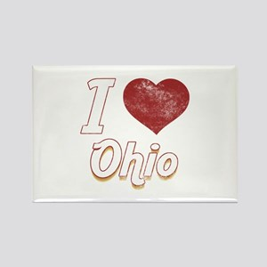 I Love Ohio (Vintage) Rectangle Magnet