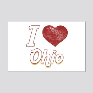 I Love Ohio (Vintage) Mini Poster Print