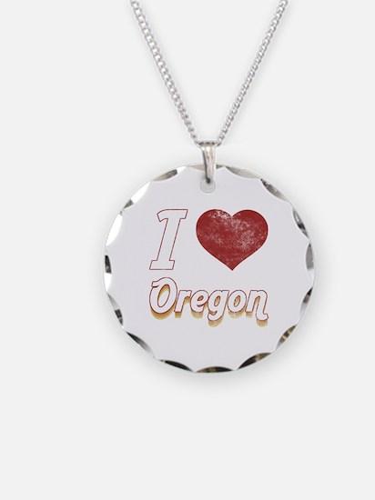 I Love Oregon (Vintage) Necklace