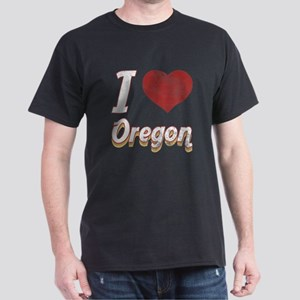 I Love Oregon (Vintage) Dark T-Shirt